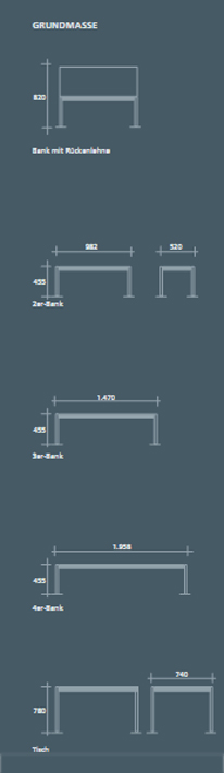 sitzgruppen f r rastst tten sitzbank au entische sitzgruppen f r parkanlagen sitzb nke f r. Black Bedroom Furniture Sets. Home Design Ideas