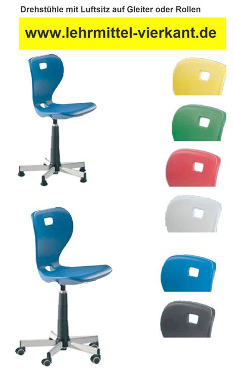 Drehstuhl mit Kunststoffschale, Drehstühle für Computerraum ...