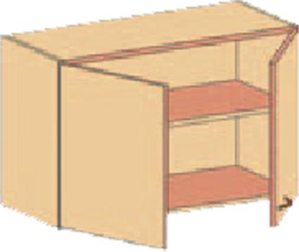 Hangeschrank 2x Drehturen Und 1 Einlegeboden Hxbxt 60x90x40 Cm
