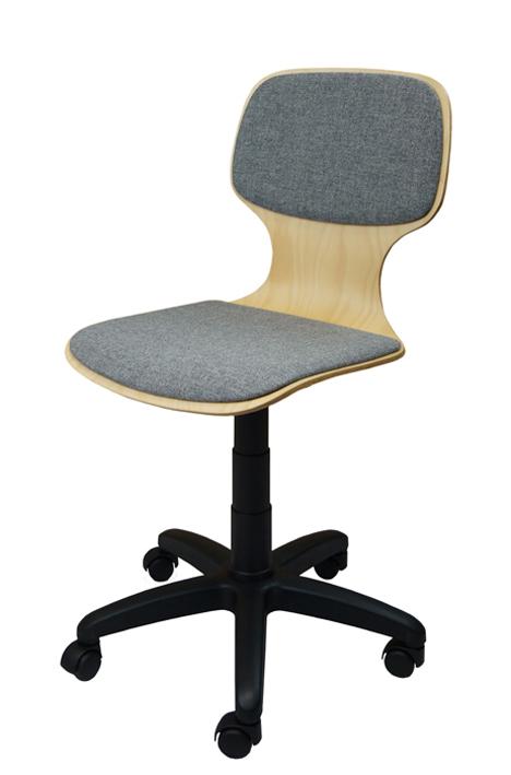 Drehstuhl Mit Gewindespindel Sitzschale Gepolstert Und Rollen