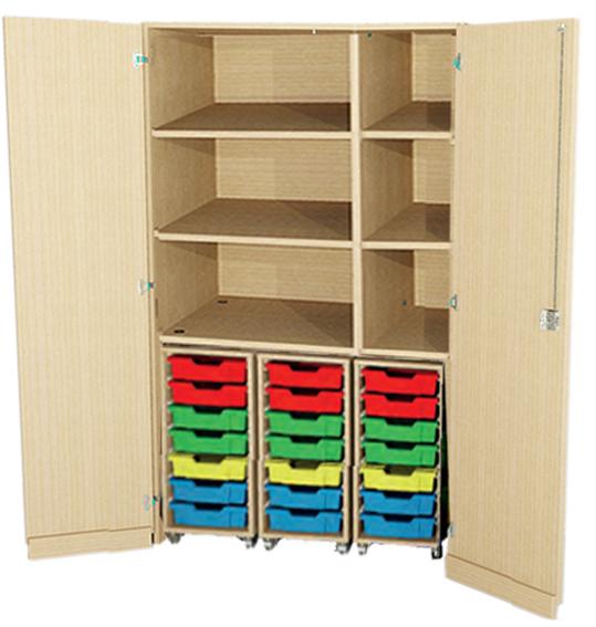 Garagenschrank Mit 21 Flache Hips Eigentumsboxen Klassenraumschrank