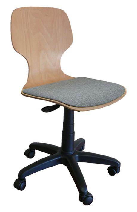 drehstuhl mit gaslift sitzschale sitzpolster und rollen b rom bel drehstuhl schulm bel. Black Bedroom Furniture Sets. Home Design Ideas