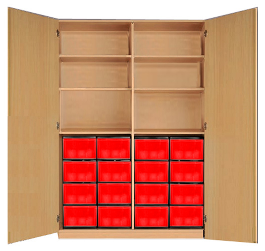 klassenschrank materialschrank mit eigentumsboxen materialschrank schwerentflammbarer schrank. Black Bedroom Furniture Sets. Home Design Ideas