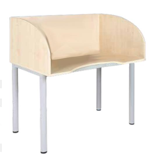 Sichtblendentisch Tisch Mit Sichtschutz Schultische