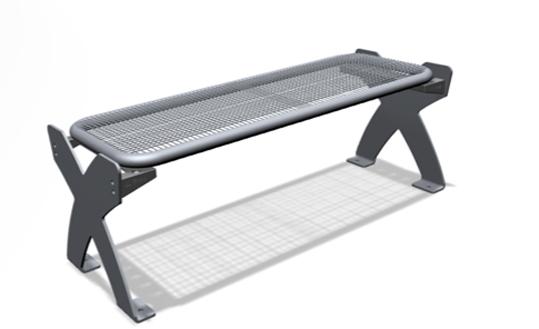 sitzbank f r au en ortsfest parkbank verschraubbar sitzbank aus drahtgitter au enm bel f r. Black Bedroom Furniture Sets. Home Design Ideas