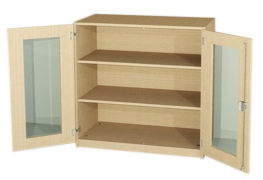 unterschrank mit glast ren halbschr nke f r labor schrank f r lehrmittel vitrinenschr nke. Black Bedroom Furniture Sets. Home Design Ideas