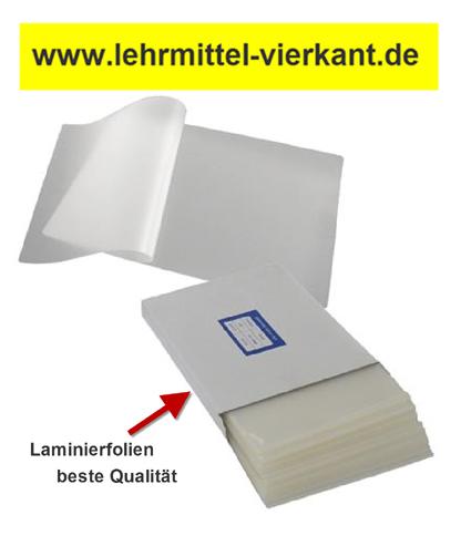 Laminierfolie Visitenkartengröße 60x90 Mm 2x125mic