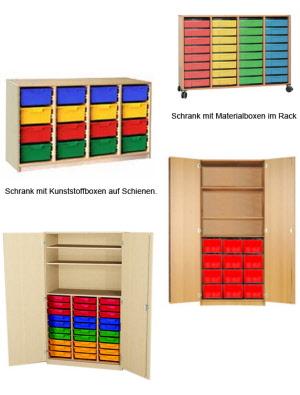 Materialschränke, Eigentumsschränke, Apothekerschrank ...