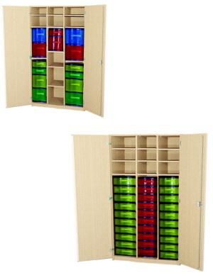 materialschrank f r die schule materialschrank mit boxen materialschrank mit kunststoffboxen. Black Bedroom Furniture Sets. Home Design Ideas