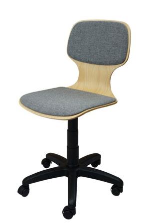 drehstuhl mit gewindespindel sitzschale gepolstert und rollen sitzpolster und rollen. Black Bedroom Furniture Sets. Home Design Ideas