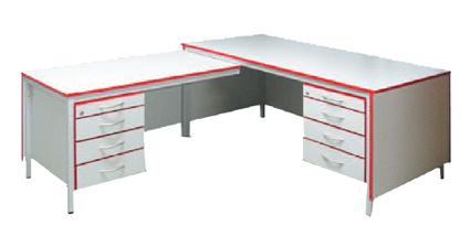 Bürotisch Winkelkombination Links Schreibtisch Mit Hängecontainer