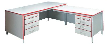 Bürotisch Winkelkombination Rechts Schreibtisch Mit Hängecontainer