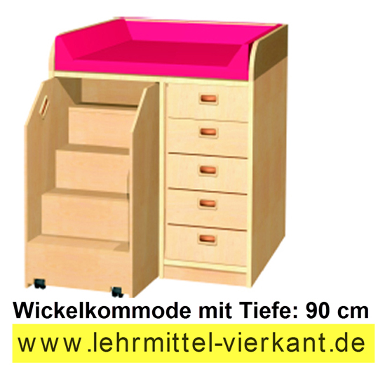 kindergarteneinrichtung wickelkommoden mit 90c m tiefe wickeltische wickeltisch kindergarten. Black Bedroom Furniture Sets. Home Design Ideas