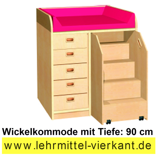 wickelkommode mit 90 cm tiefe wickeltische wickeltisch. Black Bedroom Furniture Sets. Home Design Ideas